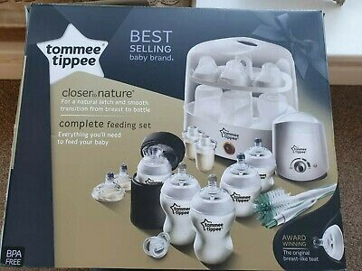 Tommee Tippee Closer to Nature Complete Feeding Set White new & used