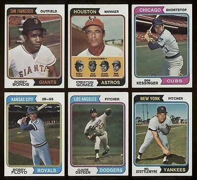 COMPLETE YOUR SET: U-Pick 50, Ex-ExMt 1974 Topps, 525 Diff Commons/ minor stars