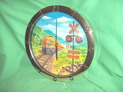 #207 - Union Pacific Railroad 949 Clock With Light Activated Lights & Sound