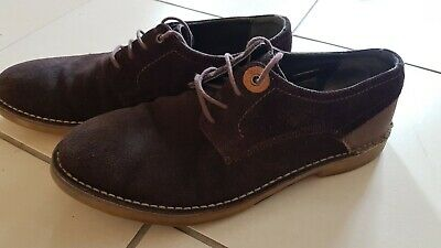 Men`s Barbour Bolingbroke Derby Brown Suede Leather Casual Shoes -Size 9