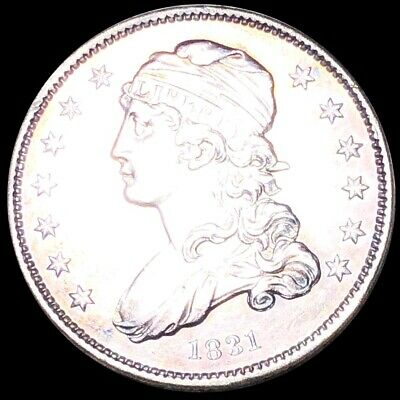 1831 Capped Bust Quarter CLOSELY UNCIRCULATED Philadelphia 25c Silver Coin NR!