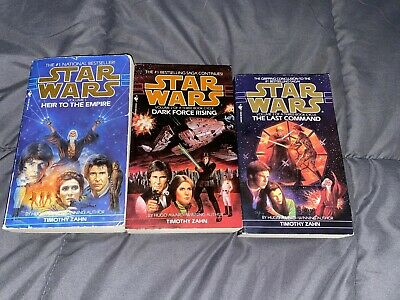 Lot of 3 Star Wars Thrawn Trilogy Novels * Timothy Zahn *paperback