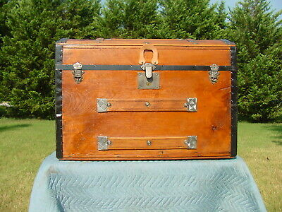 Antique Trunk Pat'd 1889 As Much As 130 Years Old! Excellent Restoration