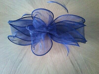 Fascinator - Dark Navy - Wedding - Lovely