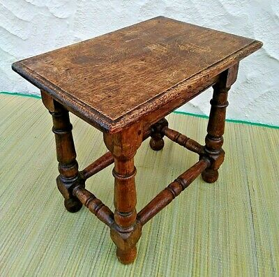 Antique Oak Joint Stool, Coffee Table, Lamp Stand, Sofa Table