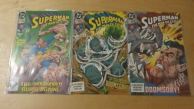 Superman Man Of Steel 17 18 19 First Doomsday 1992 Death Of Superman