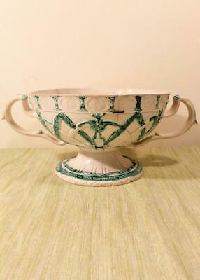 Wedgwood Creamware Pedestal Footed Twin Handled Orange Basket Antique c 1790
