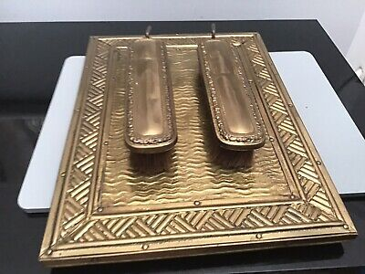 Antique  Brass Arts and Crafts ,Hall Clothes Brush Set.
