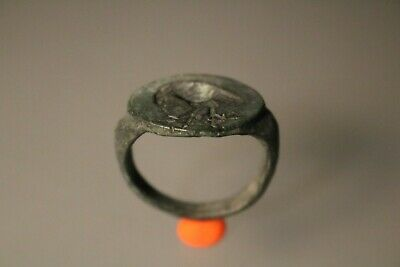 Ancient Fantastic Roman Bronze Ring * Eagle 1st - 4th century AD