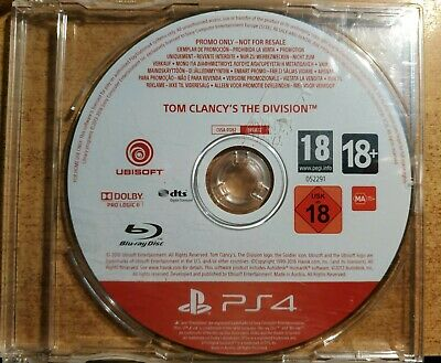 Tom Clancy's The Division PS4 PROMO Game Rare for Sony PlayStation 4 Promotional