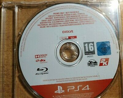 Evolve PS4 PROMO Game Rare for Sony PlayStation 4 PS4 Promotional