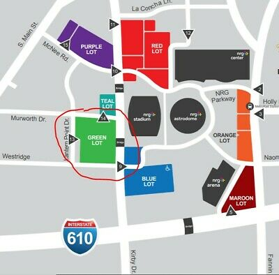 GREEN PARKING PASS HOUSTON RODEO  HLSR 03/06 - Chance the Rapper at NRG Stadium