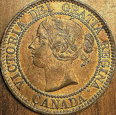 1859 CANADA LARGE CENT PENNY LARGE 1 CENT COIN - Fantastic Red Uncirculated !