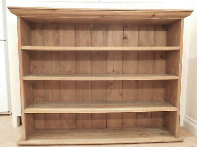 Antique Victorian pitch pine hanging bookcase. Lovely colour.