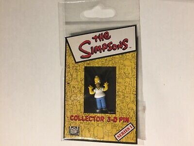 NEW UNUSED The Simpsons TV Show Homer Figure with Arms Out 3-D Rubberized Pin
