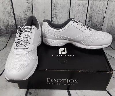 FootJoy Men's White Athletics Spikeless Lace up Golf Shoes Size 9 9.5 10 11.5 M