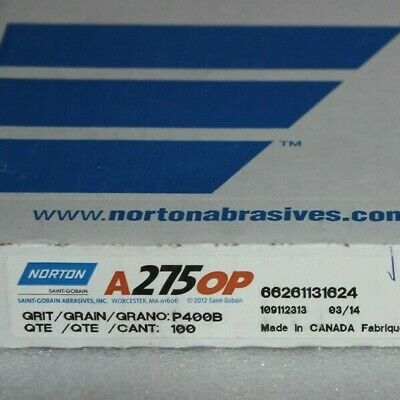 "P400; Metalite K227 Box Of 25 Norton 662611 01705 9"" X 11"" Sanding Sheets"