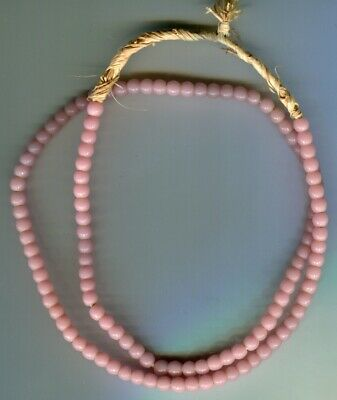 African Trade beads Vintage Czech Bohemian old pink glass Masai beads