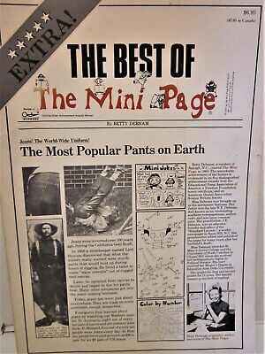 """The Best of """"The Mini Page"""" by Betty Debnam (1977-1978) Arts/Crafts, other Book"""