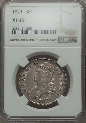 1821 Capped Bust Half NGC XF-45