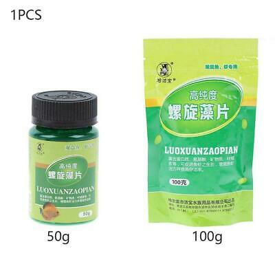 1x Spirulina Tablets Enrichment 100X Favorite Pet Food Red Fish Shrimps Cry R2O9
