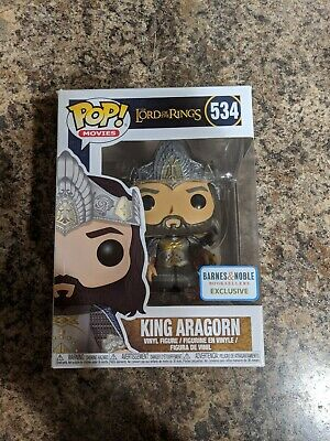Funko Pop! Lord Of The Rings King Aragorn #534 Barnes&Noble Exclusive *IN HAND*