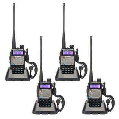 4 x BAOFENG UV-5XP VHF UHF 400-520MHz Dual Band Two Way Radio 128CH Walkie 8W 5W
