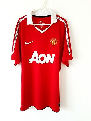 Manchester United Home Shirt 2010. Large. Official Nike. Red Man Utd Top Only L.