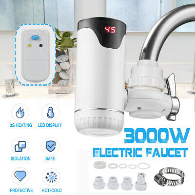 Instant Tankless Electric Hot Water Heater Kitchen Fast Heating Tap Fauceta1