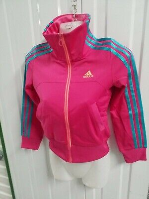 Brand New Adidas Girl Track Top Pink Jacket Size S 7 To 8 Years Old