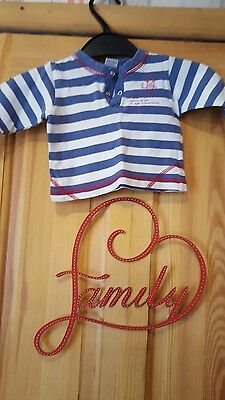 baby boys next striped long sleeved top size up to 1 month 10lbs