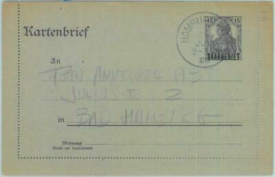 89326 - GERMANY  SAAR  - Postal History -  STATIONERY LETTER CARD # K3 Type I