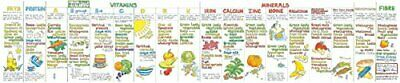 Vitamin Chart by Liz Cook Wallchart NEW Book