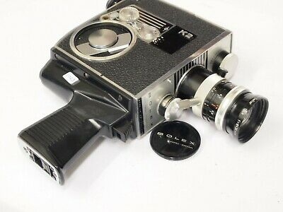 Bolex K2 Zoom Reflex 8mm Cine Camera with Case and Accessories. St No u11023