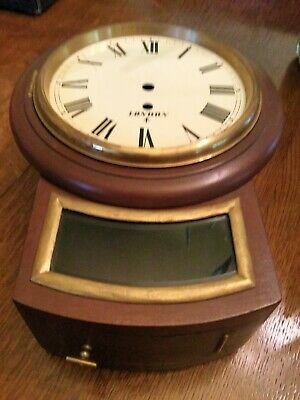 Wooden Fusee Wall Clock Case