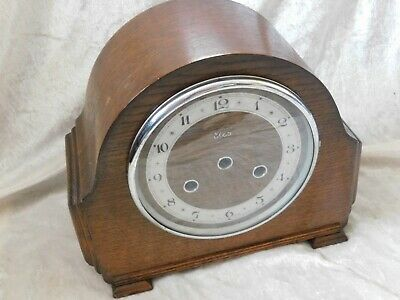 Vintage elco Mantle Clock Case With Glass.  EMPTY
