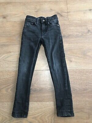 Next boys faded black skinny jeans 5 years adjustable waist J58 combine p&p