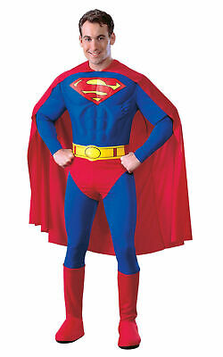 Official Adult DELUXE MUSCLE CHEST SUPERMAN Mens Fancy Dress Costume Book Week