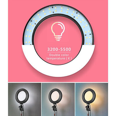 "6"" 16cm LED Ring Light+Bracket+Tripod Dimmable 5500K Lamp Camera Phone LiveO ZS"