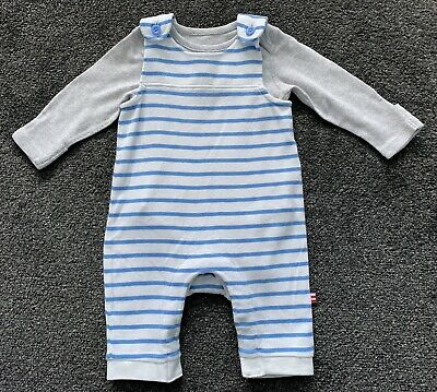 M&S Marks And Spencer Boys Striped Romper Outfit Age 0-3 Months