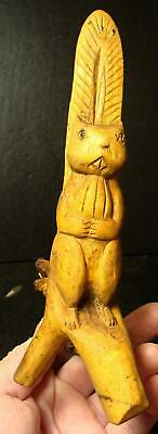 Highly Detailed Hand Carved Folk Art Squirrel/Nut-Carved From Cypress Tree Root
