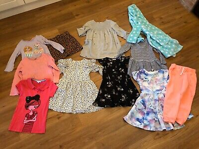 job lot girls clothes Bundle Age 4 5 6 Years M&s Next River Island Dresses Tops