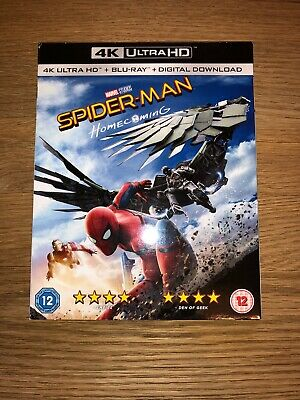 Spider-Man Homecoming: 4K UltraHD + Blu Ray + Digital With Cover Sleeve