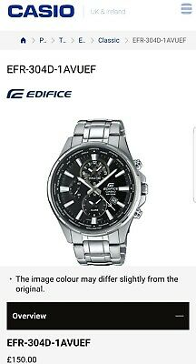 montre casio edifice-classic efr-304d-1avuef