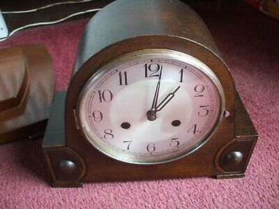 Vintage Haller Germany Art Deco 8 Day Striking Mantle Clock V Good Condition