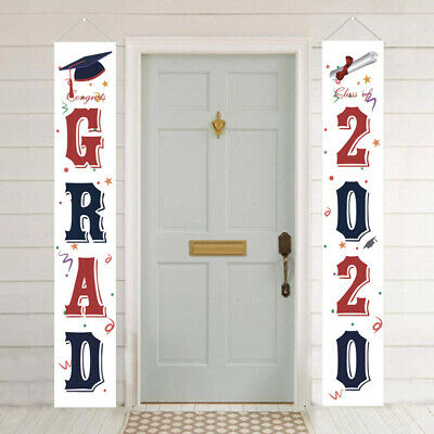 1 Pair of Door Curtain Decorative Classroom Couplet Hanging Sign for Feast Party