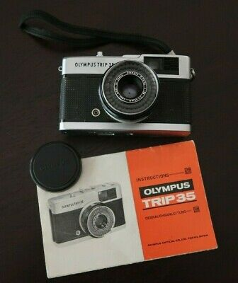 Olympus Trip 35 Vintage Classic Camera, Made in Japan + Instructions + Cover