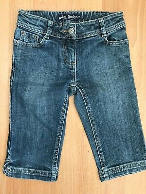 MINI BODEN Girls Cut Off Cropped Denim Jeans Shorts @ Size 7 Years