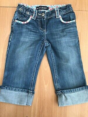 MINI BODEN Girls Cut Off Cropped Denim Jeans Shorts @ Size 5 Years
