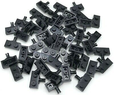 LEGO LOT OF 50 BLACK CAR AXLES 2 AXLE HOLDERS PIECES